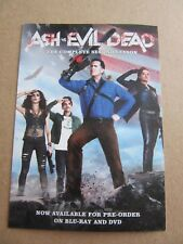 Ash Vs Evil Dead, Promotional Art Card, Bruce Campbell, Horror, Cult, Sam Raimi