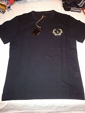 BILLIONAIRE ITALIAN COUTURE T-SHIRT BLACK NERO Sz S B.I.C. EMBROIDERED LOGO