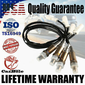 4 Pack O2 Oxygen Sensor Front Rear Down/Upstream for Ford F-150 E-150 Mercury