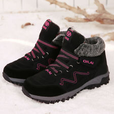 Women's Winter Warm Platform Wedge Snow Boots Fur Lined Sneakers Trainers Shoes