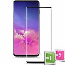 Tempered Glass Screen Protector For SAMSUNG GALAXY S10 BLACK Full Coverage