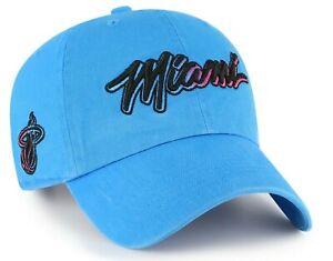 MIAMI HEAT MIAMI VICE HAT NBA ADJUSTABLE SOUTH BEACH STRAPBACK '47 BRAND CAP NEW