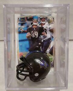 Steve Smith Sr Baltimore Ravens Mini Helmet Card Display Case Shadowbox WR Auto