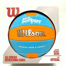 New listing Wilson Super Soft Play Volleyball Orange and Light Blue Official Size All Ages