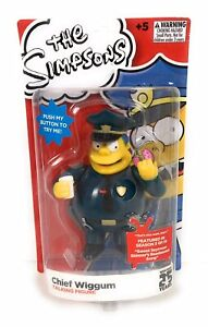 NEW The Simpsons Chief Wiggum Talking Figure Toy 25 Years Edition BOX SEALED
