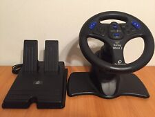 Performance V3FX Racing Steering Wheel & Pedals for PS2 PlayStation 2 - Good