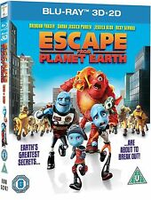 ESCAPE FROM PLANET EARTH 3D + 2D - Blu-ray (2013) NEW & SEALED! FREE FAST POST!