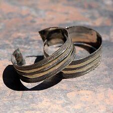 Ats simple brass BellyDance 501t22 Bracelet Pair (2pc) Turkoman Tribal Dance