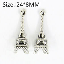 15PCS Tibetan Silver Eiffel Tower Pendant Charms Pendants Crafts Necklace Beads