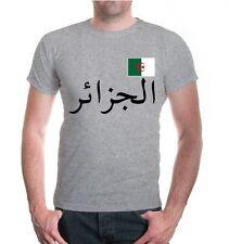 Herren Unisex Kurzarm T-Shirt Algerien Algeria Afrika africa Flagge flag Reise