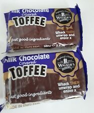 2 x 100gm bars walkers chocolate coated original toffee  / retro Sweets