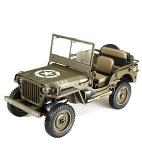 Roc001RS ROC HOBBY 1/6TH MILITARY SCALER RTR Highly Detailed Jeep