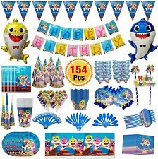 Baby Shark Party Supplies, Shark Birthday Decorations Kit for Kids Party Favor