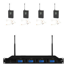 IMG STAGELINE TXS-646 microfono wireless UHF 4 canale auricolare del sistema