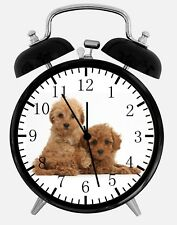 "Cute Poodle Puppy Alarm Desk Clock 3.75"" F06 Nice For Decor or Gifts"