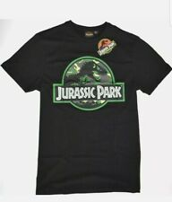 Jurassic Park T Shirt 100% Cotton Camo Black Mens UK Size M 25th Anniversary