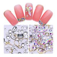 1 Box Nail Art Rhinestones Gems Alloy Decorations for DIY Manicure Glitter Tips