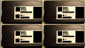 4 Patrone für HP 950 XL black Officejet 8100 Eprinter 8600 Premium E-All-In-One