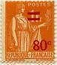 "FRANCE STAMP TIMBRE N° 359 "" PAIX AVEC SURCHARGE ORANGE,80 C S 1 F"" NEUF xTB"