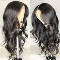 100% Malaysian Virgin Human Hair Wigs Pre Plucked Full Lace Front Wig Soft Wavy