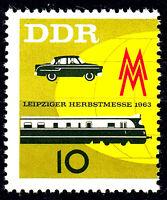 976 postfrisch DDR Briefmarke Stamp East Germany GDR Year Jahrgang 1963