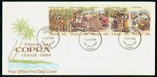 MayfairStamps Tokelau 1984 Strip of 5 Planting through Shipping of Coconuts Firs