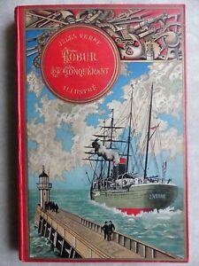 Jules VERNE - ROBUR LE CONQUERANT Paris Hetzel Edition originale 1886