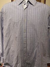 English Laundry Men's Long sleeve checked shirt With Flip cuffs 17 34/35