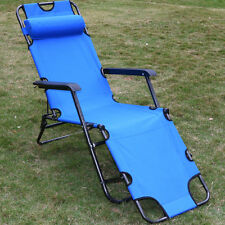 New Metal Folding Chaise Lounge Chair Patio Outdoor Pool Beach Lawn Recliner US