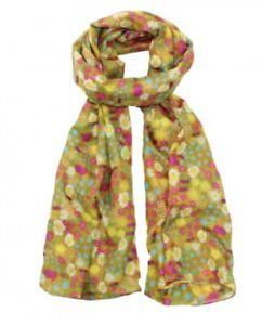 Large SCARF YELLOW wild flower print colourful SPRING SUMMER ladies wrap shawl
