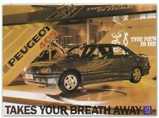Peugeot 405 Photo Card from NEC Motor Show 1988