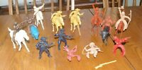 Vintage  Payton Plastic Large Cowboys and Indians on Horses
