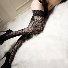 Sexy Women Sheer Lace Top Thigh High Stockings чулки Thigh Highs Hosiery Trendy