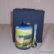 Old Tupton Ware Farmyard Preserve Pot with spoon TW7212