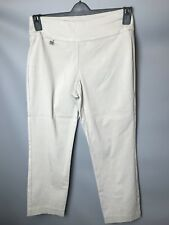 Alfani Size 8 Beige Stone Slimming Stretchy Pull on Trousers With Spandex