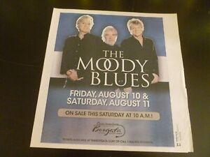 The Moody Blues 2007 Concert Poster Ad Advert Atlantic City NJ