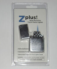 Z-Plus Butane Torch Insert Lighter with SILVER CASE