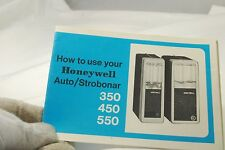 How to use your Honeywell Auto/Strobonar 350 450 550 flash manual guide 7219109