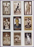LOT OF 9 DAVE STEWART CARDS: CONIGLIARO, LOMBARDI, ZANE GREY, HAZLE