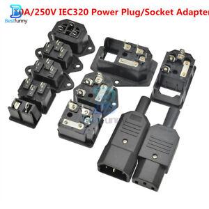 1/5/10PCS AC 10A/250V IEC320 Mains Power Plug/Socket Adapter Connectors 15A/125V
