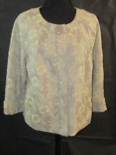 DKNY JEANS Womans Brown Floral Print Jacket - Size XL NWT