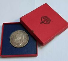 More details for 1935 george v raised edge silver proof crown in red box - rare coin 2500 mintage