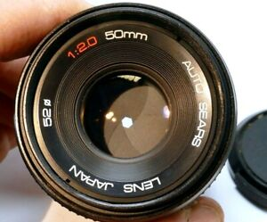 Sears 50mm f2.0 PK Manual Focus Lens Telephoto SONY And cameras ILCE α6300 α6500