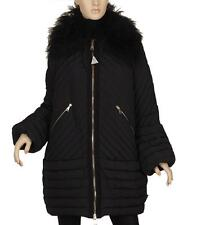 "NEW MONCLER ""ALCOR"" BLACK STYLISH QUILT GOOSE DOWN MONGOLIAN FUR PARKA COAT4/L"