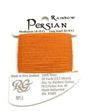 "Persian Wool ""Orange Peel"" Single Ply Needlepoint Thread by Rainbow Gallery"