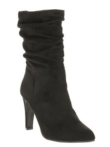 Big Buddha Women's Dress Slouch Boot Black Faux Suede size 11