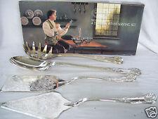 Paul Revere Silversmiths Silver Plated 4 Pcs Hostess Serving Set #5050 New