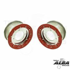 TRX 450r 400ex 300ex  Front Wheels  Beadlock 10x5 3+2 4/144  Alba Racing  slv/rd