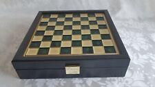Schachspiel Schachbrett Manopoulos Figuren Griechische Historie Handgefertigt