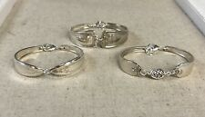 Spoon Bracelets *  Lot of 3 * Silver Plate * Bridal * Christmas * Gift * Re-sell
